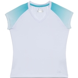 Fila Baseline Cap Sleeve V-Neck Girl`s Tennis Tank