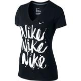 Nike Brush Up SS V-Neck Women's Tennis Tee