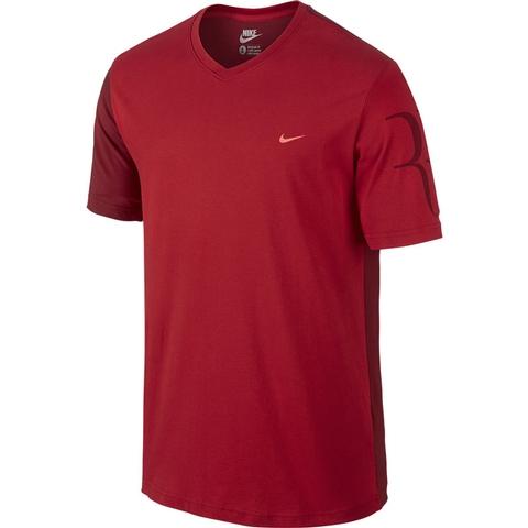 Nike Rf Short- Sleeve V- Neck Men's Tennis Tee