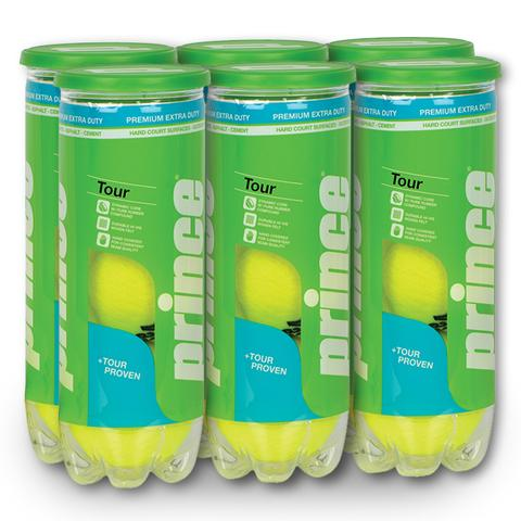 Prince Tour Extra Duty 6 Can Pack Tennis Balls