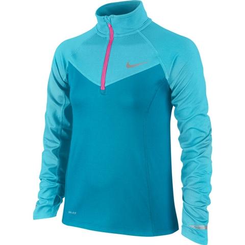 Nike Element Half- Zip Long- Sleeve Girl's Top