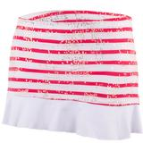 Doue Red Stripes Women`s Skort
