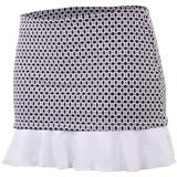 Doue Black White Chain Women`s Skort