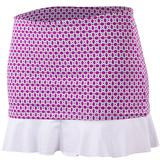 Doue Purple White Chain Women`s Skort