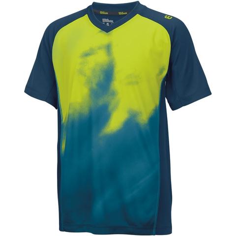 Wilson Smoke Print Boy's Tennis Crew