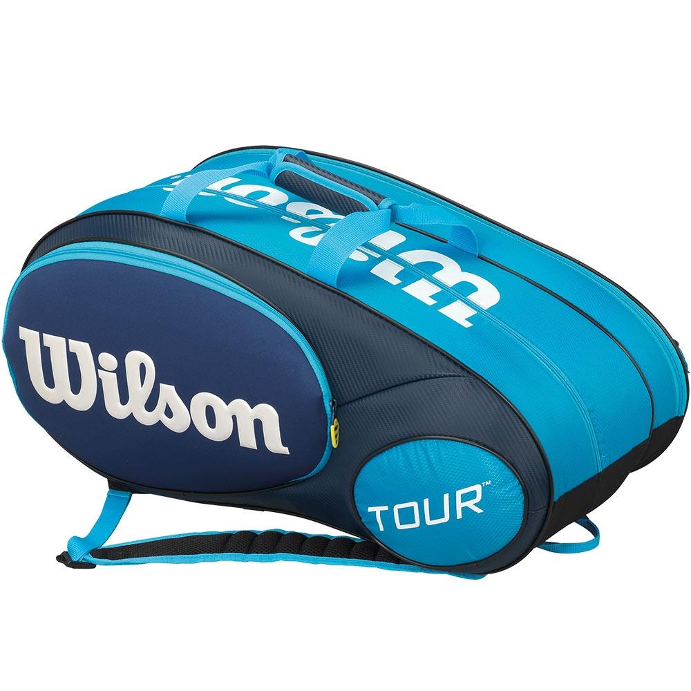 wilson mini tour 6 pack junior tennis bag blue