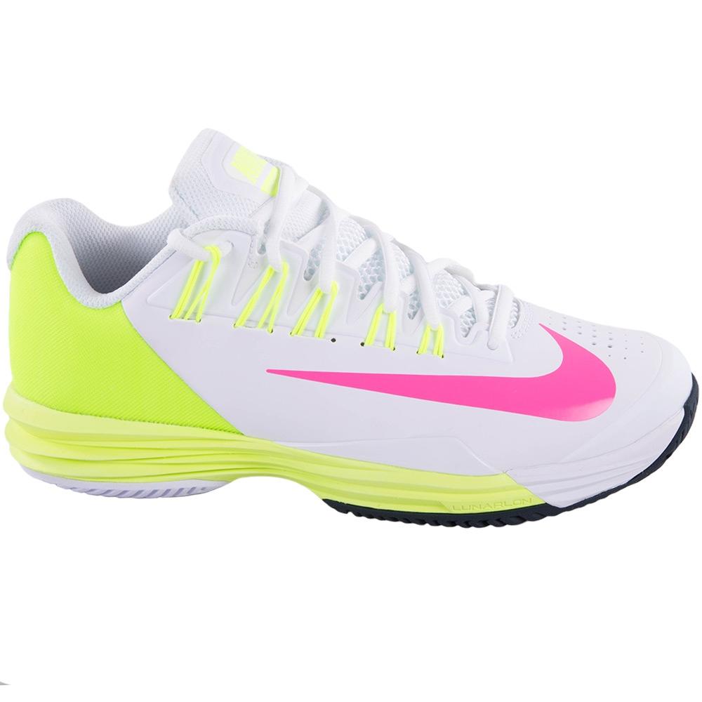 nike lunar ballistec 1 5 s tennis shoe white volt pink