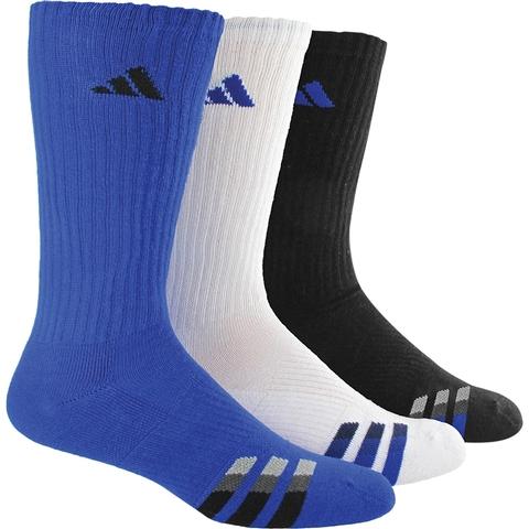 Adidas Cushion 3- Pack Color Crew Men's Tennis Socks