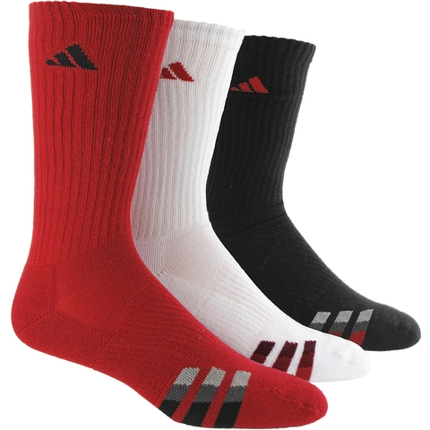Adidas Cushion 3- Pack Color Crew Men's Tennis Socks