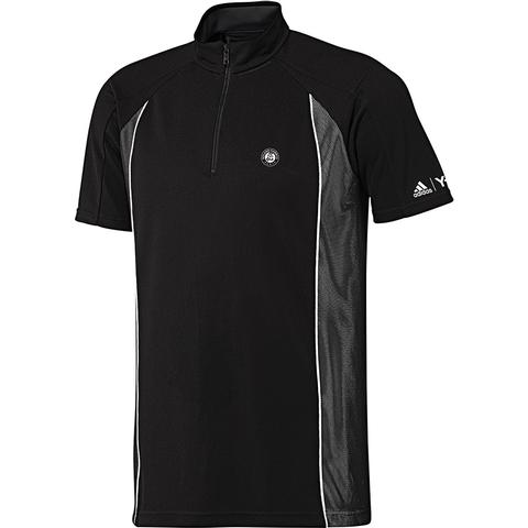Adidas Roland Garros 1/2 Zip Men's Tennis Tee
