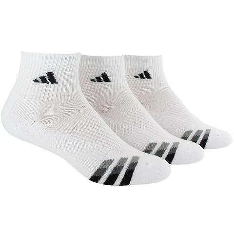 Adidas Cushioned 3 Pack Quarter Men's Tennis Socks