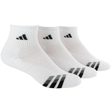 Adidas Cushioned 3 Pack Quarter Men's Tennis Socks