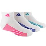 Adidas 3-Pack Low Cut Girls Tennis Socks