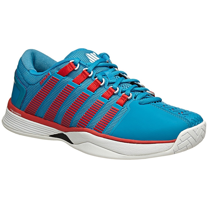 k swiss hypercourt s tennis shoe blue white