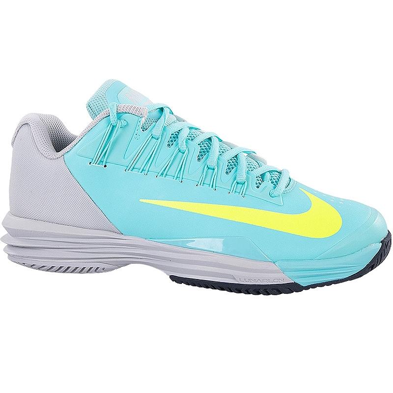 nike lunar ballistec 1 5 s tennis shoe aqua grey volt