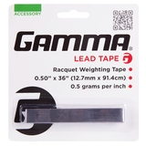 Gamma 1- Pack Lead Tennis Tape (1/2 Wide X 36in)