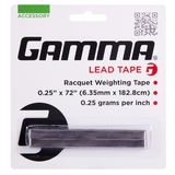 Gamma 1- Pack Lead Tennis Tape (1/4 Wide X 72in)