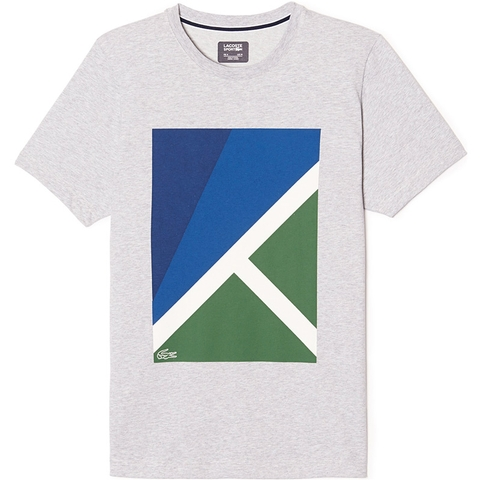 Lacoste Jersey Geometric Print Men's T- Shirt