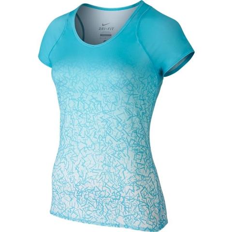 Nike Printed Short- Sleeve Women's Tennis Top