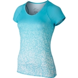 Nike Printed Short-Sleeve Women`s Tennis Top