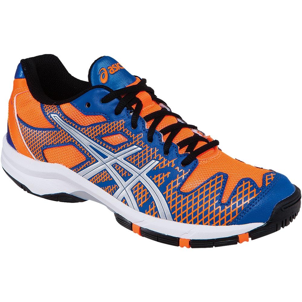 asics gel solution speed 2 junior tennis shoe blue orange. Black Bedroom Furniture Sets. Home Design Ideas