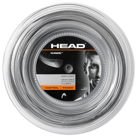 Head Hawk 17 Tennis String Reel - Grey