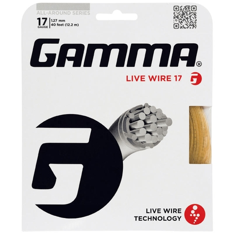 Gamma Live Wire 17 Tennis String Set