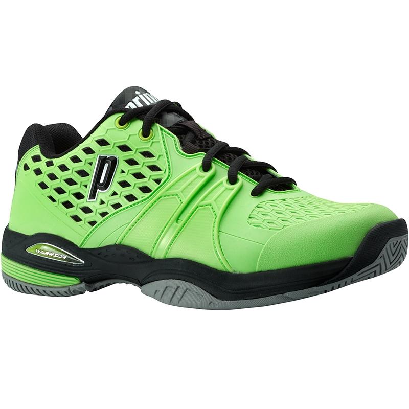 prince warrior s tennis shoe green black