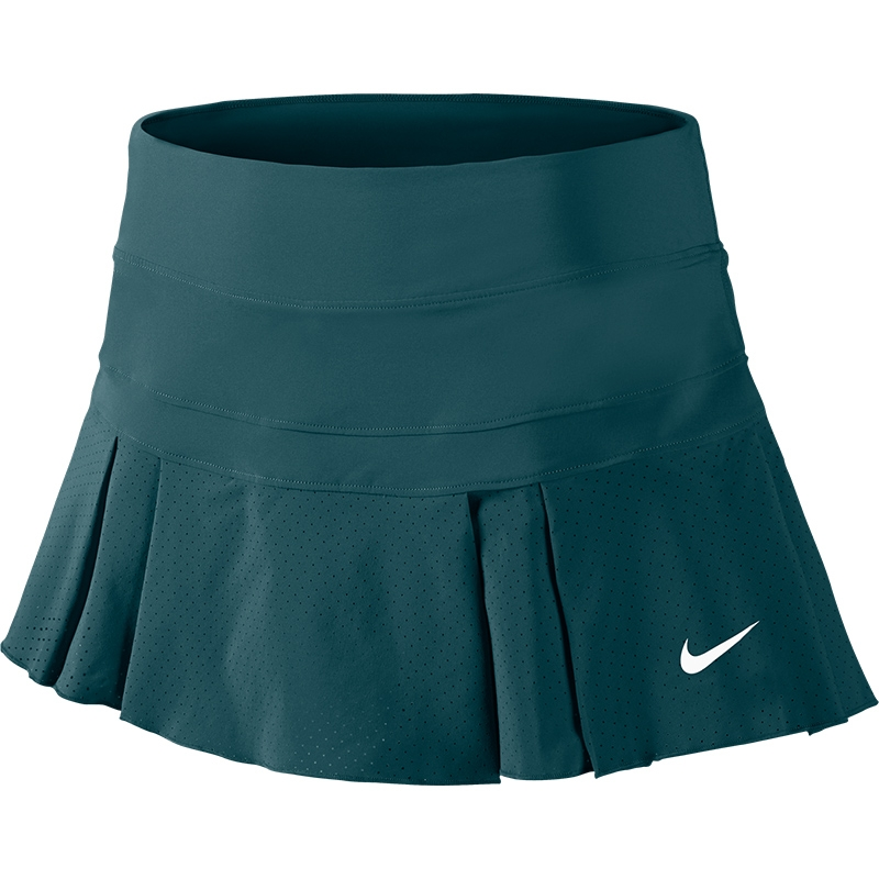 Luxury Nike DriFit Knit Women39s Tennis Skirt Venomgreengrey