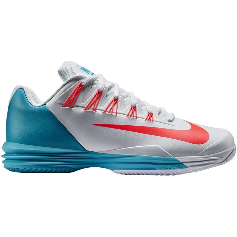 nike lunar ballistec 1 5 s tennis shoe hotlava white blue