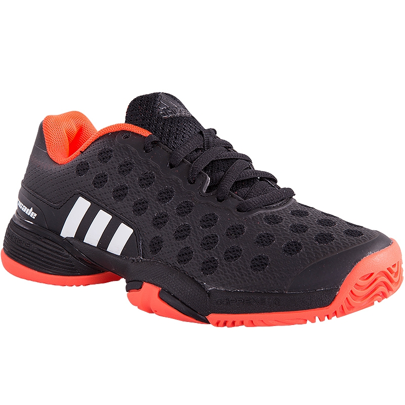 adidas barricade 9 junior tennis shoe black