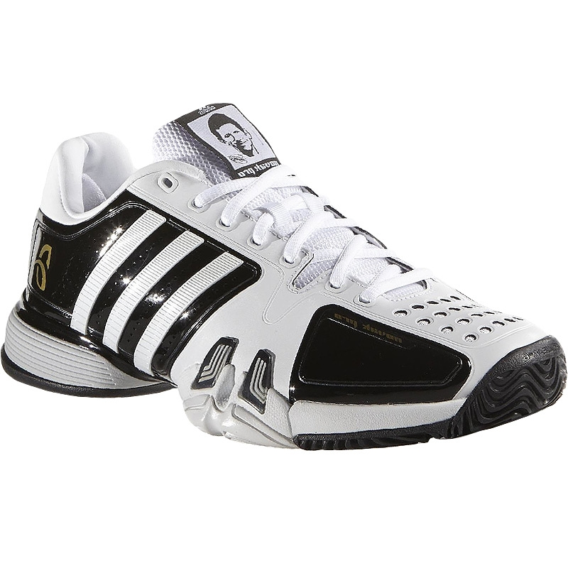 adidas novak pro s tennis shoe white black