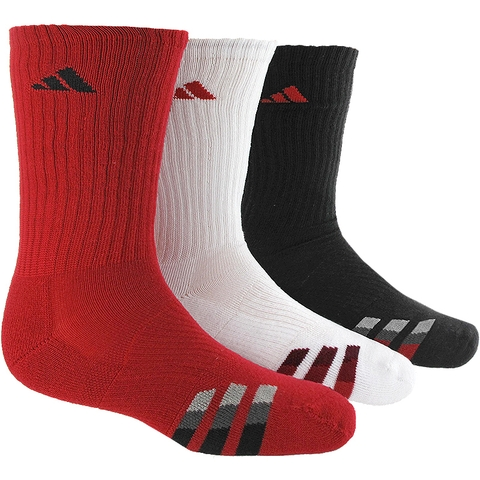 Adidas Striped 3 Pack Crew Junior's Tennis Socks