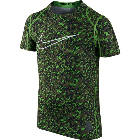 Nike Pro Cool Fitted Allover Print Boy's Shirt