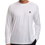 Fila Men's Essenza Long Sleeve Crew White
