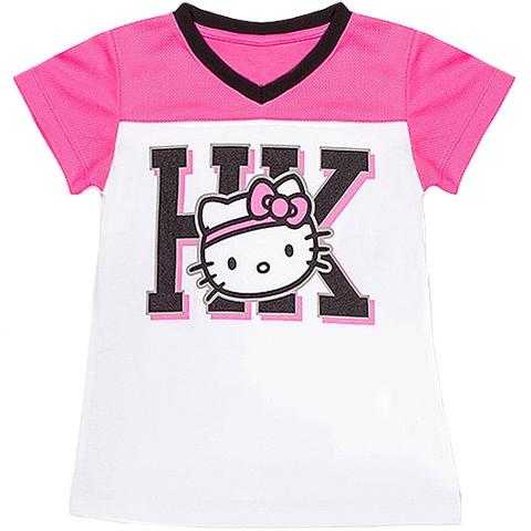 Hello Kitty V- Neck Girl's Tennis Tee