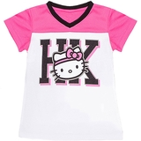 Hello Kitty V-Neck Girl`s Tennis Tee