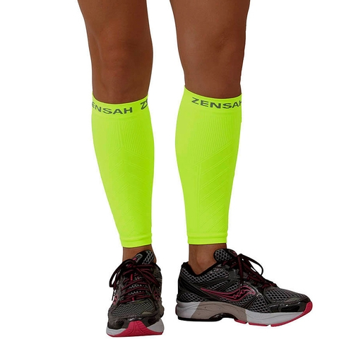 Zensah Leg Sleeve Neon Yellow