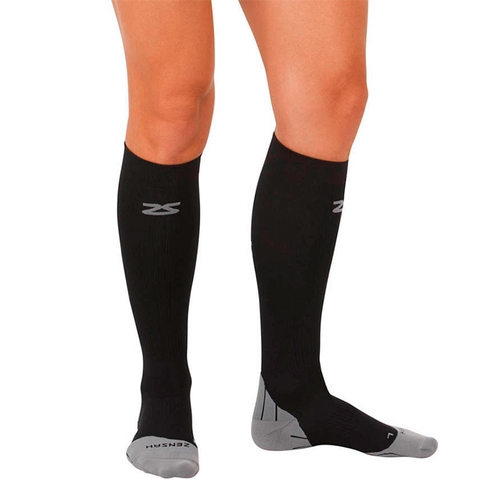 Zensah Tech + Compression Socks Black