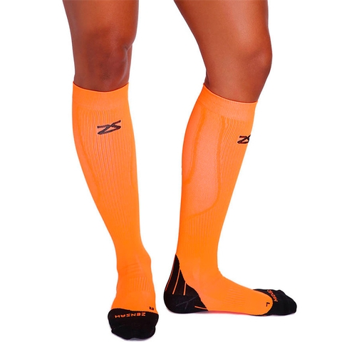 Zensah Tech + Compression Socks Neon Orange