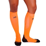 Zensah Tech+ Compression Socks Neon Orange