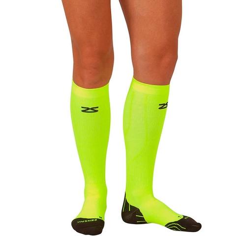 Zensah Tech + Compression Socks Neon Yellow