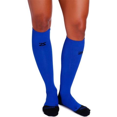 Zensah Tech + Compression Socks Blue