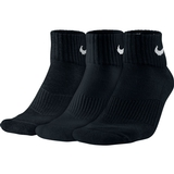 Nike 3 Pack Quarter Tennis Socks Black