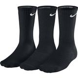 Nike 3 Pack Crew Tennis Socks Black