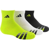 Adidas Cushion 3 Pack Quarter Junior's Tennis Socks Assorted