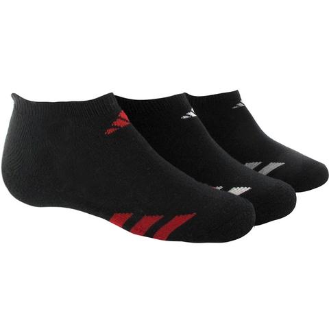 Adidas Striped 3 Pack No Show Junior's Tennis Socks