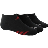 Adidas Striped 3 Pack No Show Junior's Tennis Socks Black