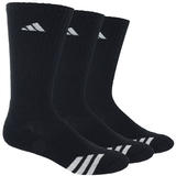 Adidas Striped 3 Pack Crew Junior's Tennis Socks Black