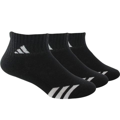 Adidas Striped 3 Pack Quarter Junior's Tennis Socks
